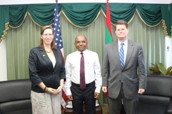 US Ambassador, Alaina Teplitz and Assistant Secretary of Def ... Image 1