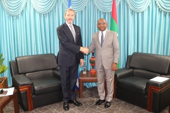 Newly Appointed Ambassador of Greece calls on the Minister o ... Image 1