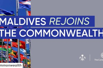 The Republic of Maldives formally re-joins the Commonwealth  ... Image 1